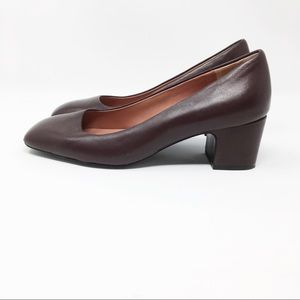Brooks Brothers Shoes - BROOKS BROTHERS leather heels square toe burgundy